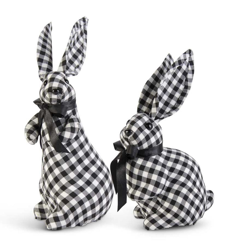Black and White Gingham Bunnies