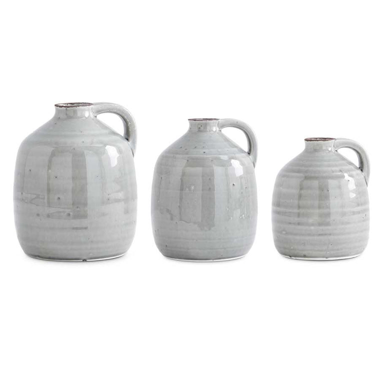Ceramic Gray Jugs With Handle (Grad Sizes)