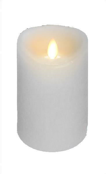 "Wax Flickering Candle, 5""W x 6""H (Various Colors)"
