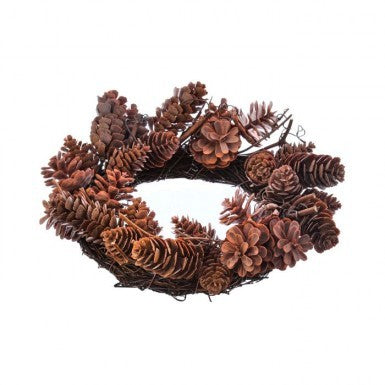 Pinecone Twig Candle Ring