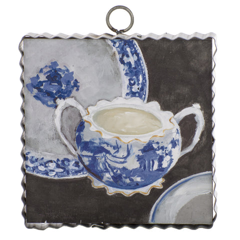 Mini Blue & White Sugar Bowl Print