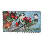 Chickadees and Geraniums Gallery Print