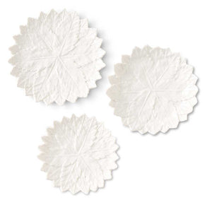 White Ceramic Leaf Plates