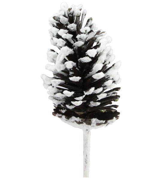 "13"" Snowed Pinecone Pick"