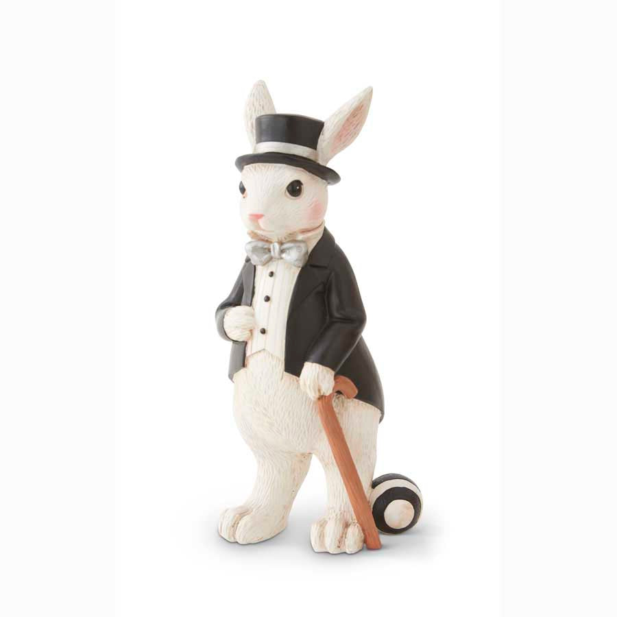 Black and White Bunny with Top Hat