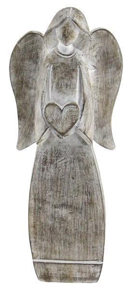 Angel with Heart Figurine