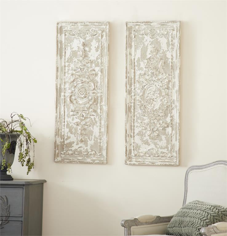 Resin Wall Panels, Set of 2