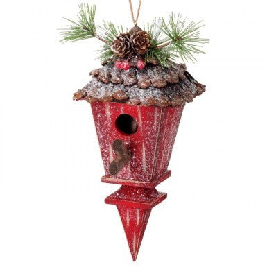 Frosted Birdhouse Ornament