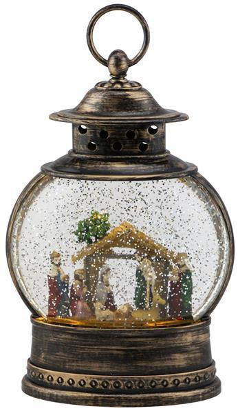 Nativity Snow Globe Lantern