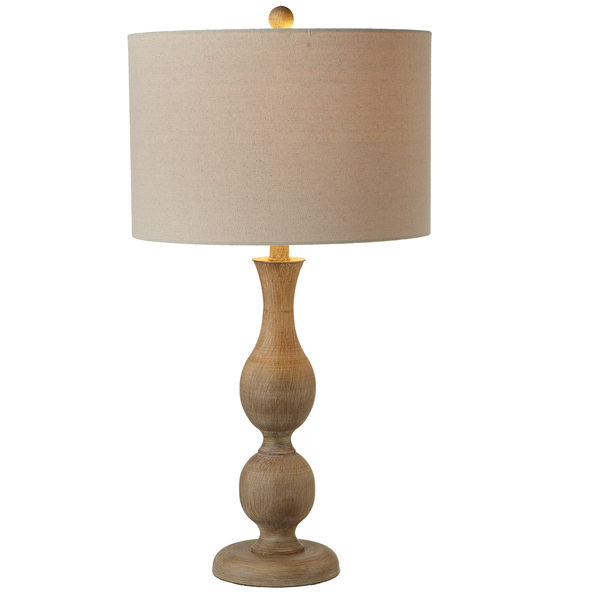 Faux Wood Turned Table Lamp