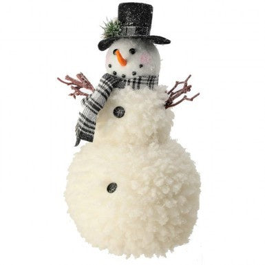 Snowman with Black and White Check Scarf (Various Sizes)