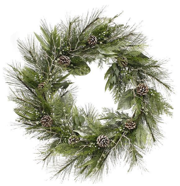 Mixed Pine and Twig Wreath (Various Sizes)