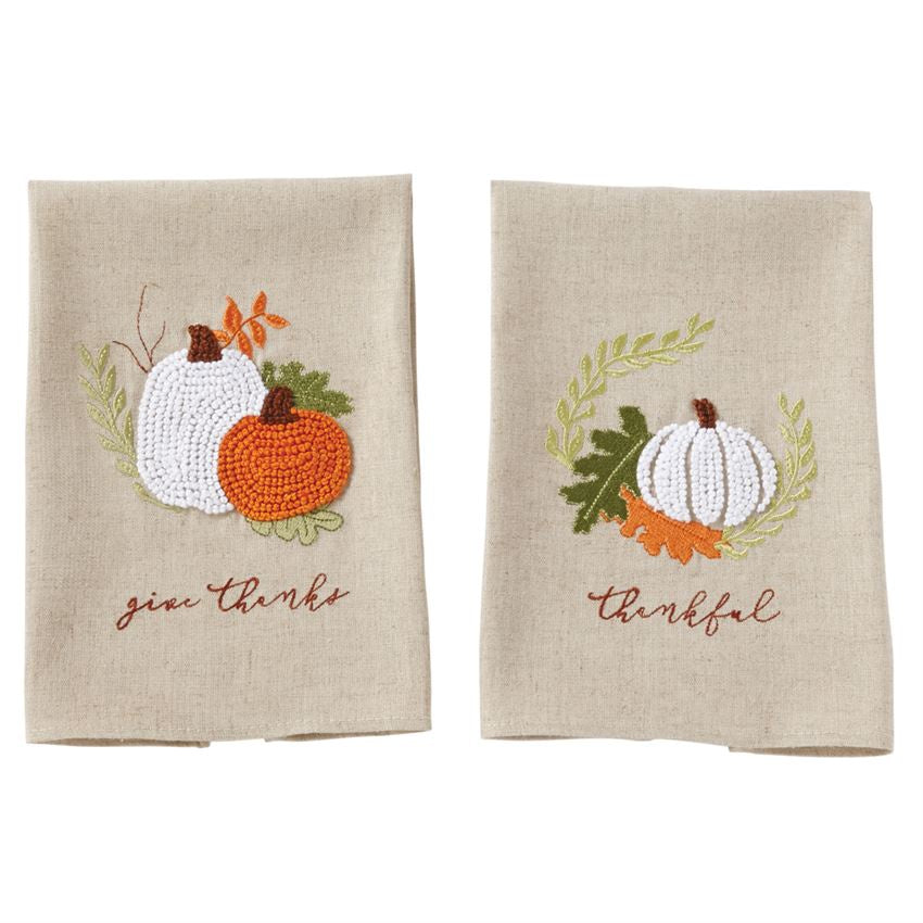Pumpkin French Knot Towel (Various Styles)