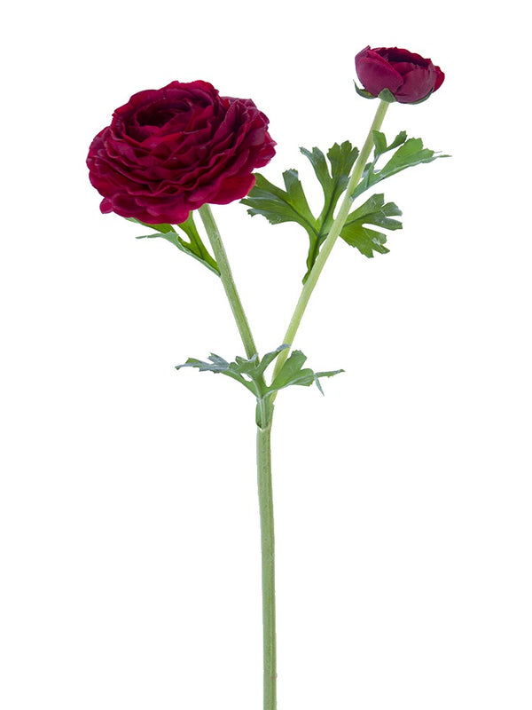 "24"" Real Touch Red Asiatic Ranunculus Stem"