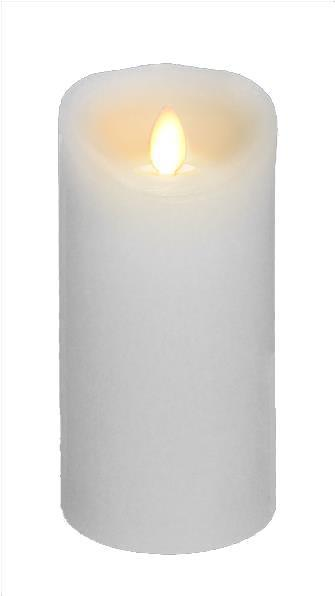 "Wax Flickering Candle, 5""W x 8""H, Various Colors"
