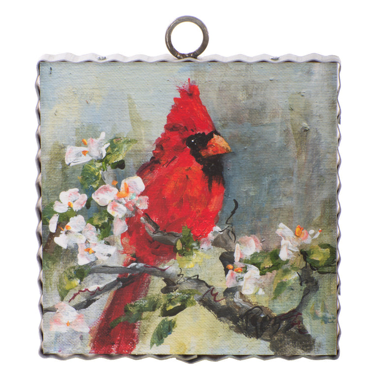 Cardinal on a Branch Mini Gallery Print