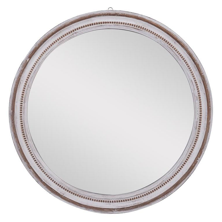 Wooden Round Wall Mirror
