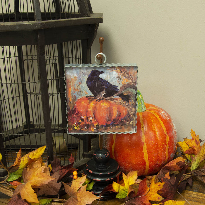 Pumpkin and Crow Mini Gallery Print