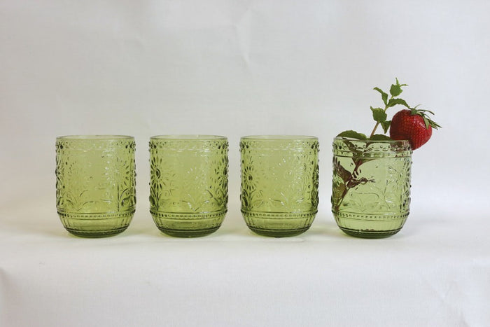 Green Drinking Glass