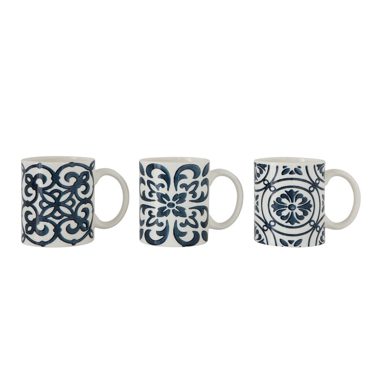 Blue & White Mugs, Various Styles