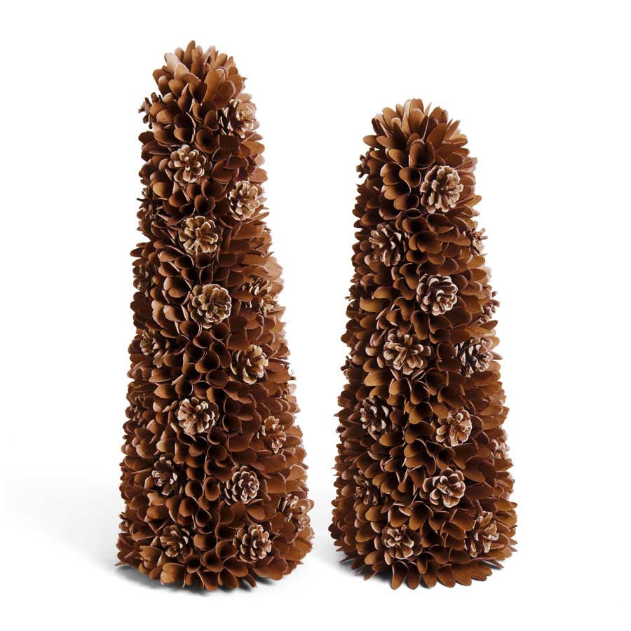 Shaved Wood & Pinecone Tree (Various Sizes)