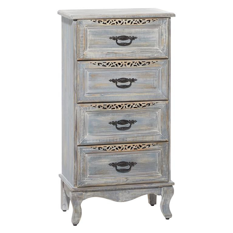 4 Drawer Wooden Cabinet 21x40x13