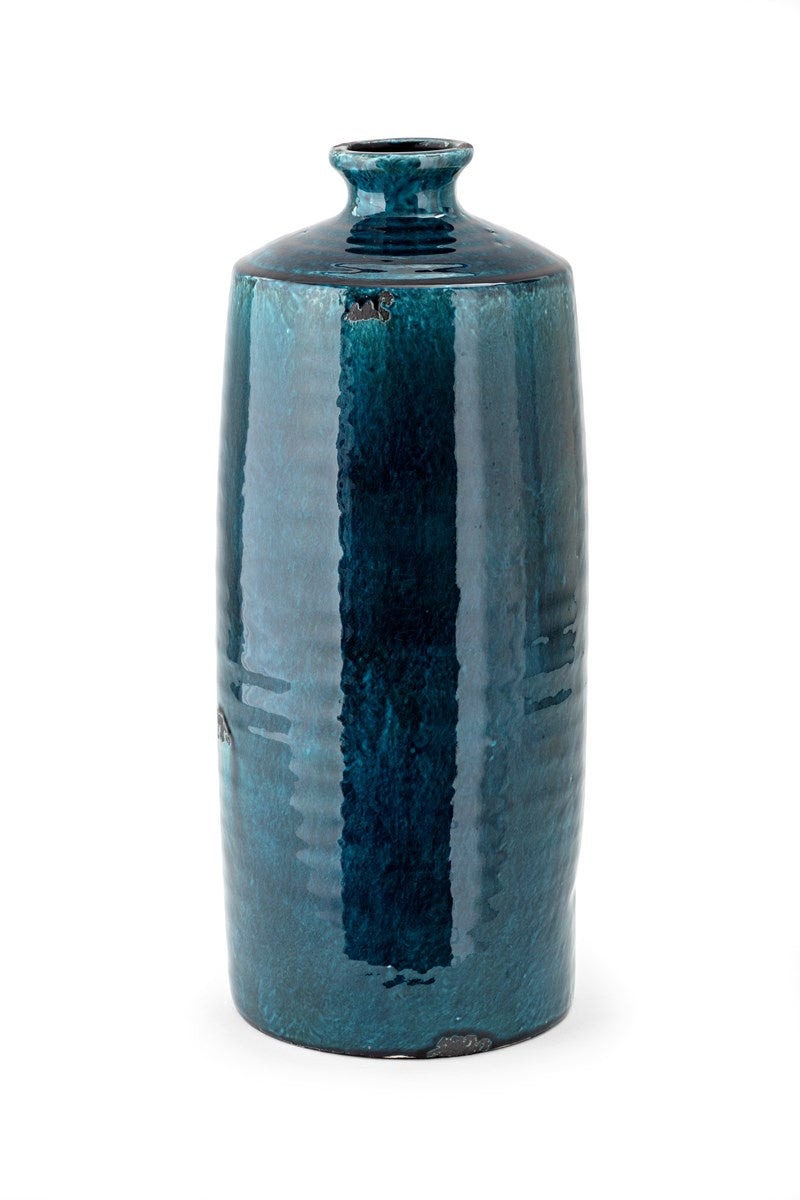 Large Crystal Blue Vase