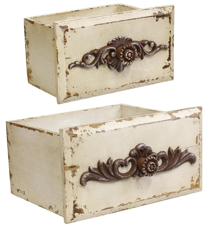Distressed Drawers, Set of 2 (Various Colors)