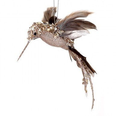 Glitter Sequins Hummingbird Ornament