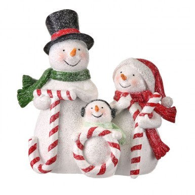 Frosted Snowman Candy Cane Joy