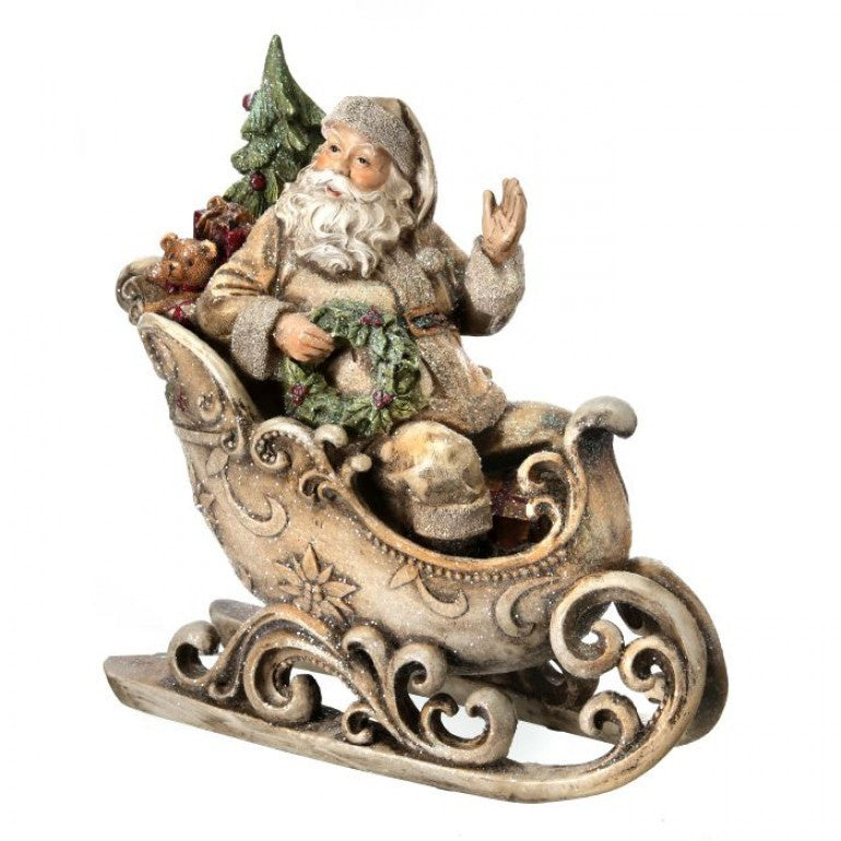 Resin Santa in Sleigh