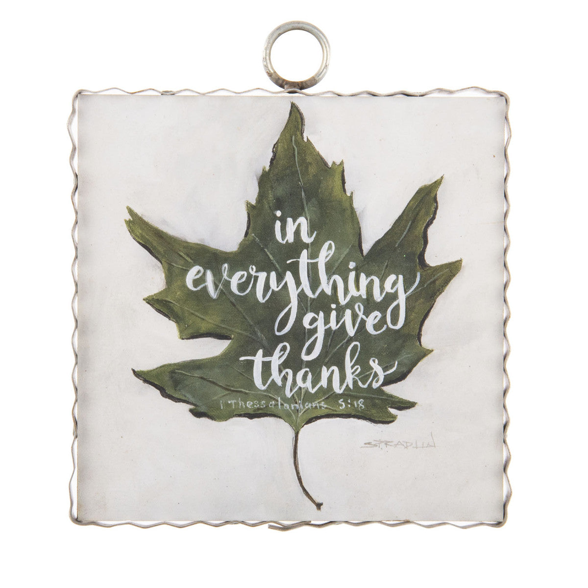 Give Thanks Leaf Mini Gallery Print