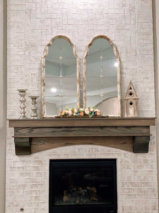 Distressed Antique Wall Mirror