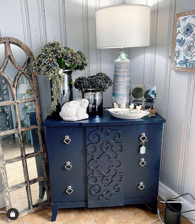 3 Drawer Navy Chest 36x34x16