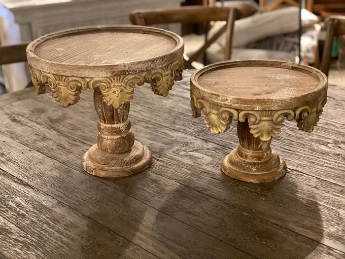 Carved Cake Stand (Various Sizes)