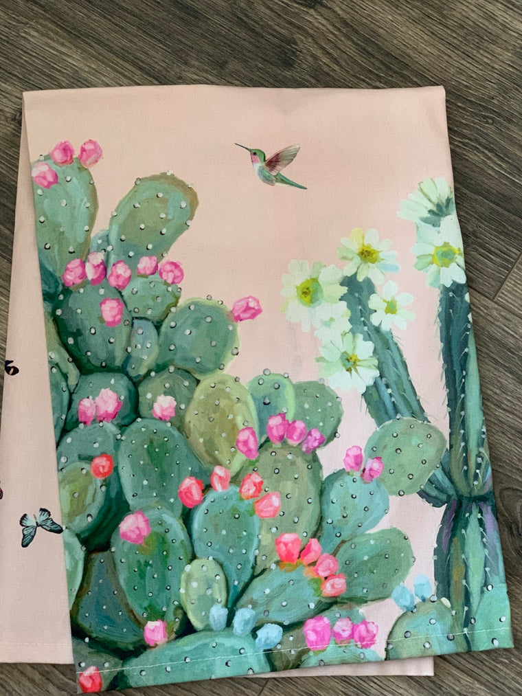 Cacti Garden Tea Towel