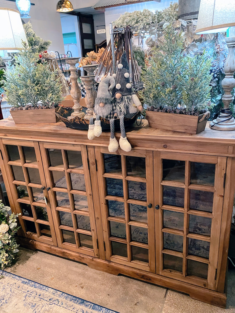 Narrow Window Pane Console (Natural)