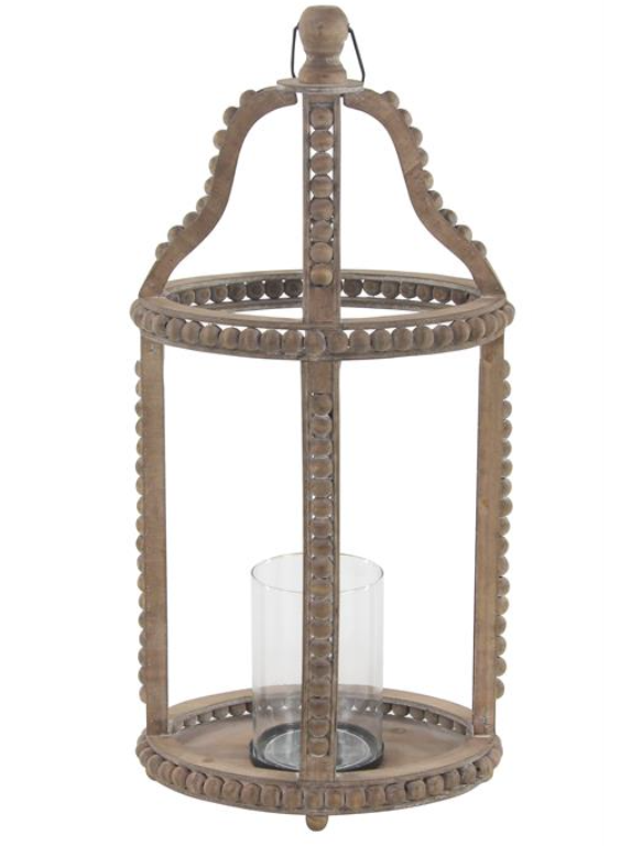 Beaded Wood and Glass Lantern (Various Styles)