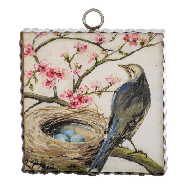 Peach Tree Bird Nest Mini Gallery Print