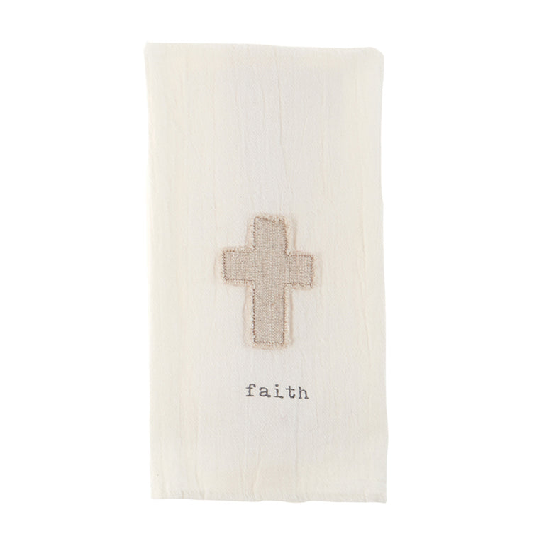 Faith Cross Cotton Towel