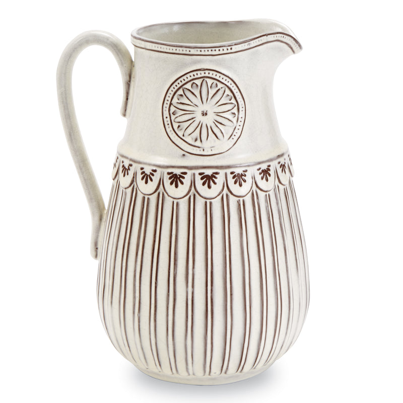 Flower Crest Terracotta Pitcher