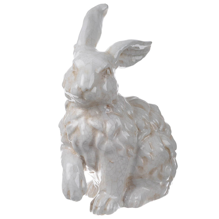 White Distressed Rabbit