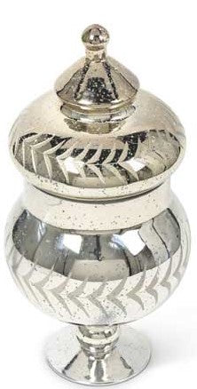 Mercury Glass Canister with Lid, Grad Sizes