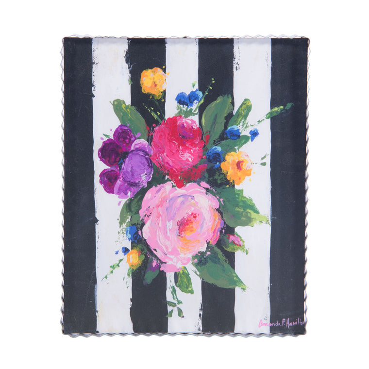Spring Mix on Stripes Gallery Print