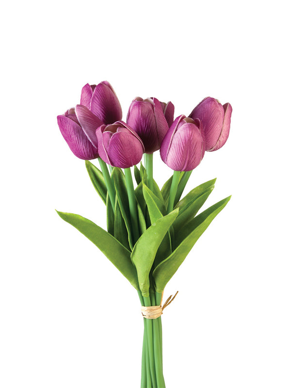 Real Touch Tulip Bunches (Various Colors)