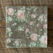 Vintage Rose Paper Cocktail Napkins, Set of 20