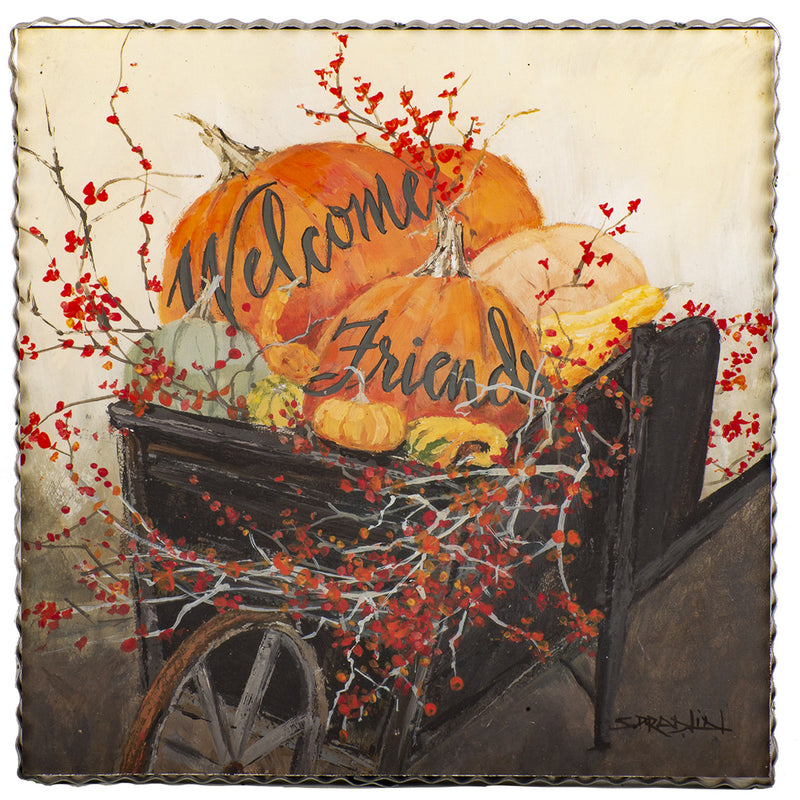 Welcome Wheelbarrow Gallery Print