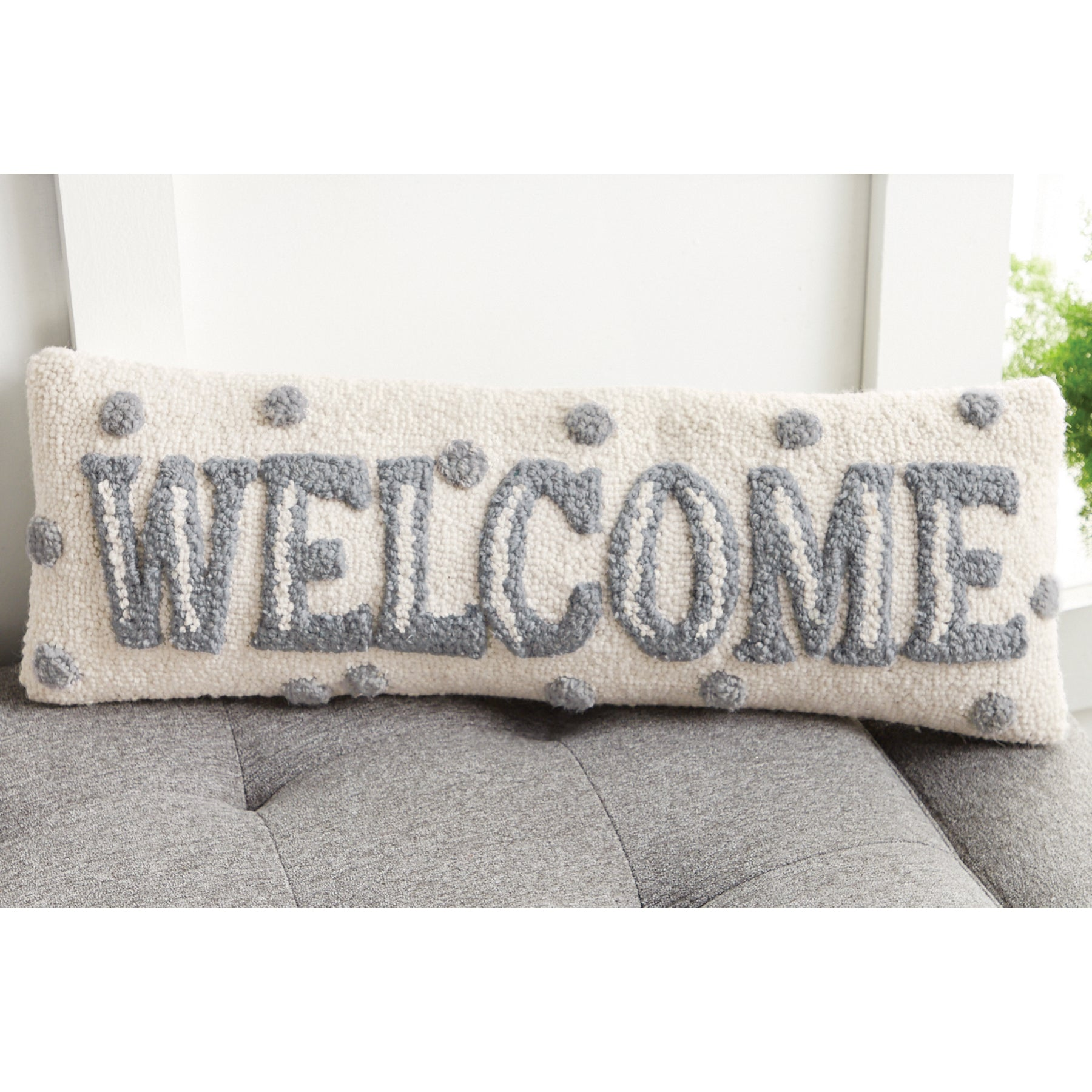 Welcome Dot Pillow