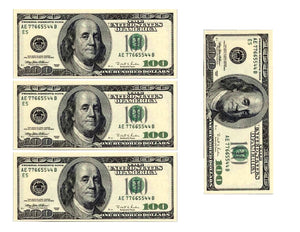 100 Dollar Bill Replicas Edible Cake Image Cake Wrap Decorations - Cakes For Cures