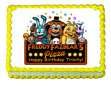 FNaF Five nights at Freddy's Edible Cake Image Cake Topper - Cakes For Cures
